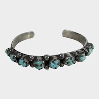 Sterling Silver Native American Turquoise Cuff