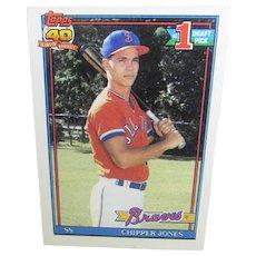 Chipper Jones 1991 Rookie Card Topps