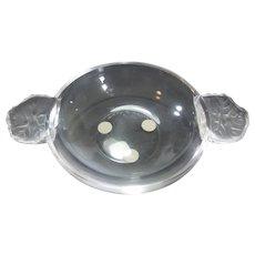 Lalique Geranium Handle Low Bowl