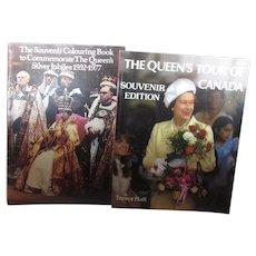 Queen Elizabeth Silver Jubilee Coloring Book/ Queen Elizabeth Tour Of Canada