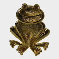 Frog Gold Tone Pin With Attitude
