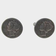 Mercury Dime Cufflinks Dated 1926 and 1944
