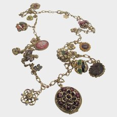 """Joan Rivers""""The Victorian Language of Flowers"""" Necklace and Charms"""