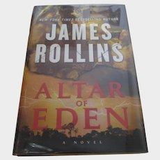 Signed James Rollins FIrst Edition of Altar of Eden