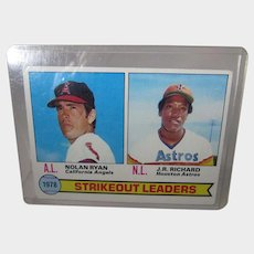Topps 1978 Strikeout Leaders Nolan Ryan and J.R. Richards  #6