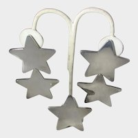 Brenda Shoenfeld Sterling Silver Star Earrings and a Spare