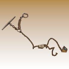Nice Victorian Watch Chain W/2 Slides