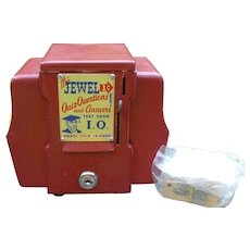 The Jewel 1 Cent Fortune Teller Napkin Holder Coin Op Trade Stimulator