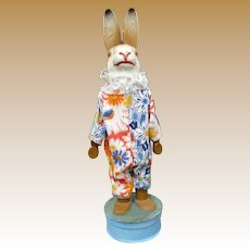 Early German Dressed Rabbit Candy Container With Squeaker