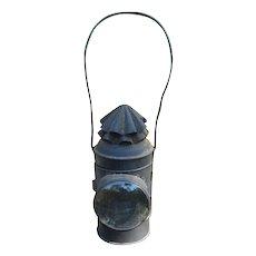 19th Century Whale Oil Watchman's Lantern