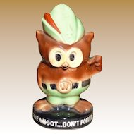 McCoy Woodsy Owl Pottery Bank