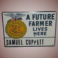 Future Farmer Tin Advertising Sign