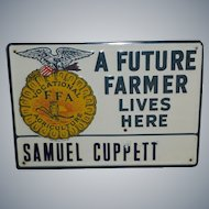 Future Farmer Tin Advertising Sign