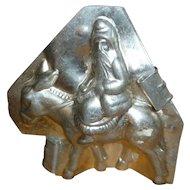 Letang Santa Pere Noel Riding Donkey Chocolate Mold