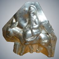 Letang Santa Pere Noel Riding Donkey Chocolate Mold