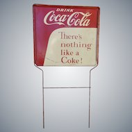 Coca Cola Rack Top Tin Advertising Sign