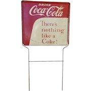 Coca Cola Rack Top Tin Advertising Sign