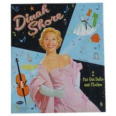 50's Dinah Shore Paper Dolls Uncut