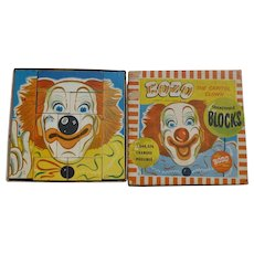 Bozo The Clown Children's Blocks