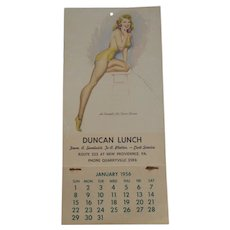 1956 Pennsylvania Pin Up Calendar
