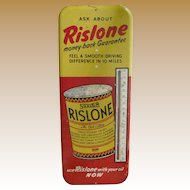 Rislone Gas And Oil Advertising Thermometer