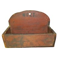 Historic Women's Christian Temperance Union Wall Box In Old Red Paint