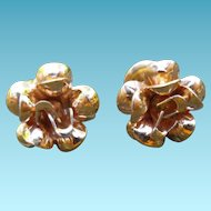 Lovely 14K Flower Earrings For Pierced Ears