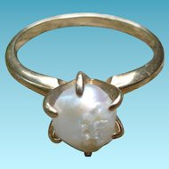 10K Gold Freshwater Pearl Ring