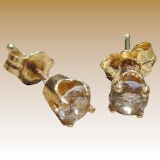 14K Diamond Stud Earrings .40 ctw