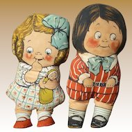 Dean's Rag Dolls Dolly Dingle Knock About Pair Of Dolls