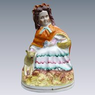Staffordshire Little Red Riding Hood Figurine