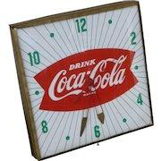 Coca Cola Fishtail Advertising Clock