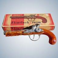 Hubley Flintlock Pistol Cap Gun Toy in Original Box