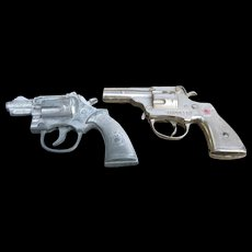 Vintage Trooper And Bulldog Toy Cap Pistols - Red Tag Sale Item