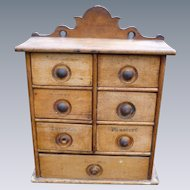 7 Drawer Antique Spice Chest
