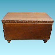 Miniature Dovetailed Blanket Chest With Sliding Till