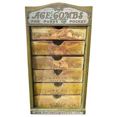 Ace Combs Country Store Counter Display Case