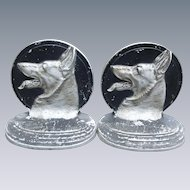 Bradley & Hubbard German Shepherd Bookends