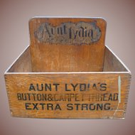 Aunt Lydia's Thread Counter Display Advertising Box