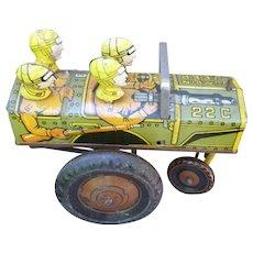 Marx Jumpin Jeep Tin Wind Up Toy