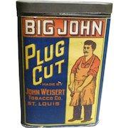 Big John Plug Cut Pocket Tobacco Tin