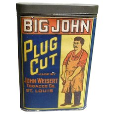 Big John Plug Cut Pocket Tobacco Tin