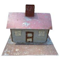 Charming Folk Art Doll Train Tin House