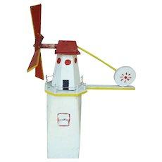 Folk Art Lighthouse Whirligig