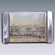 1907 Jamestown Exposition Celluloid Wrapped Matchsafe