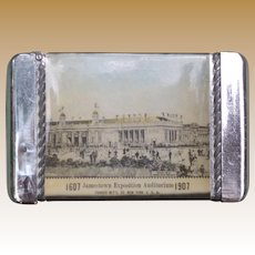 1907 Jamestown Exposition Celluloid Wrapped Matchsafe