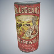 Dr. LeGear's Lice Powder Advertising Tin