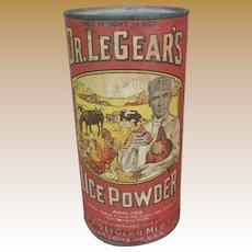 Dr. LeGear's Lice Powder Advertising Tin