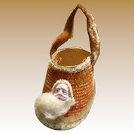 Santa Shoe Candy Container Christmas Ornament