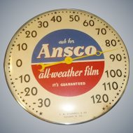 Ansco Film Advertising Thermometer